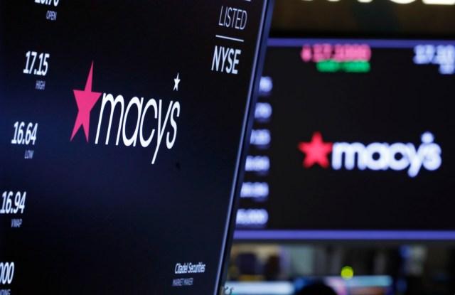 macy's logo stock screen