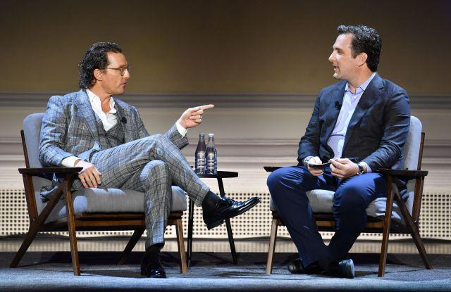 Matthew McConaughey and Mathew BelloniHISTORYTalks Leadership and Legacy event, A Conversation with Matthew McConaughey, Carnegie Hall, New York, USA - 29 Feb 2020