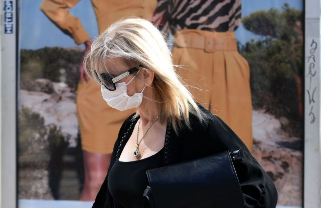 woman in mask amid coronavirus in Montenegro
