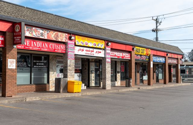 Impact of COVID-19 over small and medium business. All those businesses deemed not essential has been ordered to close.Coronavirus outbreak, Toronto, Canada - 26 Mar 2020