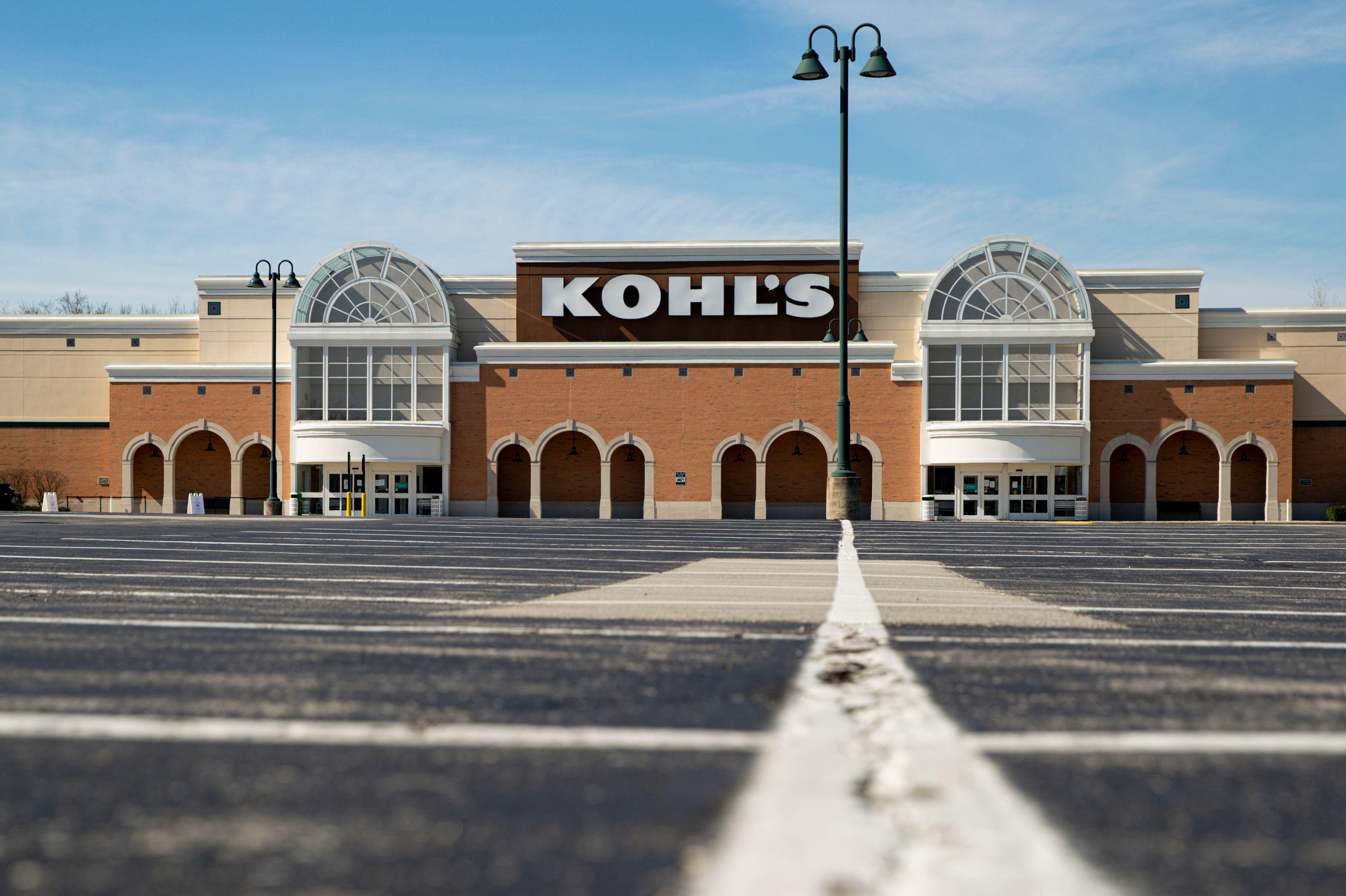 kohl's store empty parking lot coronavirus