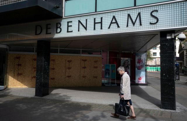 A general view of department store Debenhams in Central London, Britain, 13 April 2020. Debenhams, that was founded in the 18th century, recently filed for fell into administration and also closed its 142 UK stores, in line with government guidance on coronavirus. Britons can only leave their homes for essential reasons or may be fined, in order to reduce the spread of the SARS-CoV-2 coronavirus which causes the Covid-19 disease.Coronavirus in Britain, London, United Kingdom - 13 Apr 2020