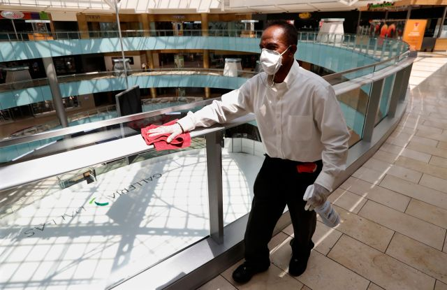 "coronavirus cleaning mall dallaspper floor of the Galleria in Dallas, . Lifting restrictions that were in place due to the COVID-19 pandemic, Texas Gov. Greg Abbott announced that retail stores would be allowed to reopen and conduct curbside service beginning Friday. Galleria Dallas has begun a ""Retail-To-Go"" initiative which allows businesses at the retail location to re-open and conduct sales either online or over the phone. The process allows for retailers to deliver their product to their customers at a drive up lane that has been set up in front of the mall that is open daily from noon to 6 p.mVirus Outbreak Texas Retail, Dallas, United States - 24 Apr 2020"