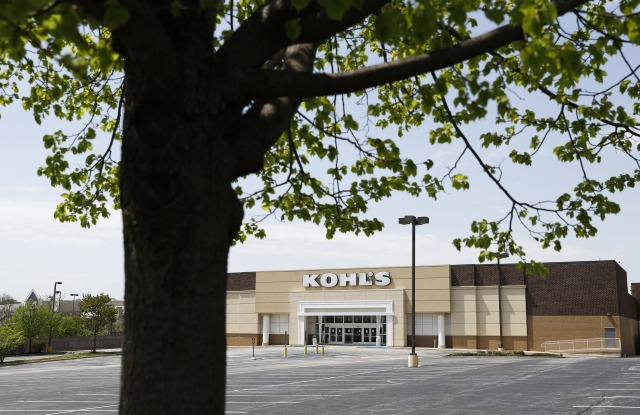 kohl's empty parking lot