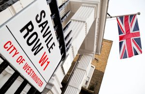 Savile Row signLondon, Britain - 21 May 2015