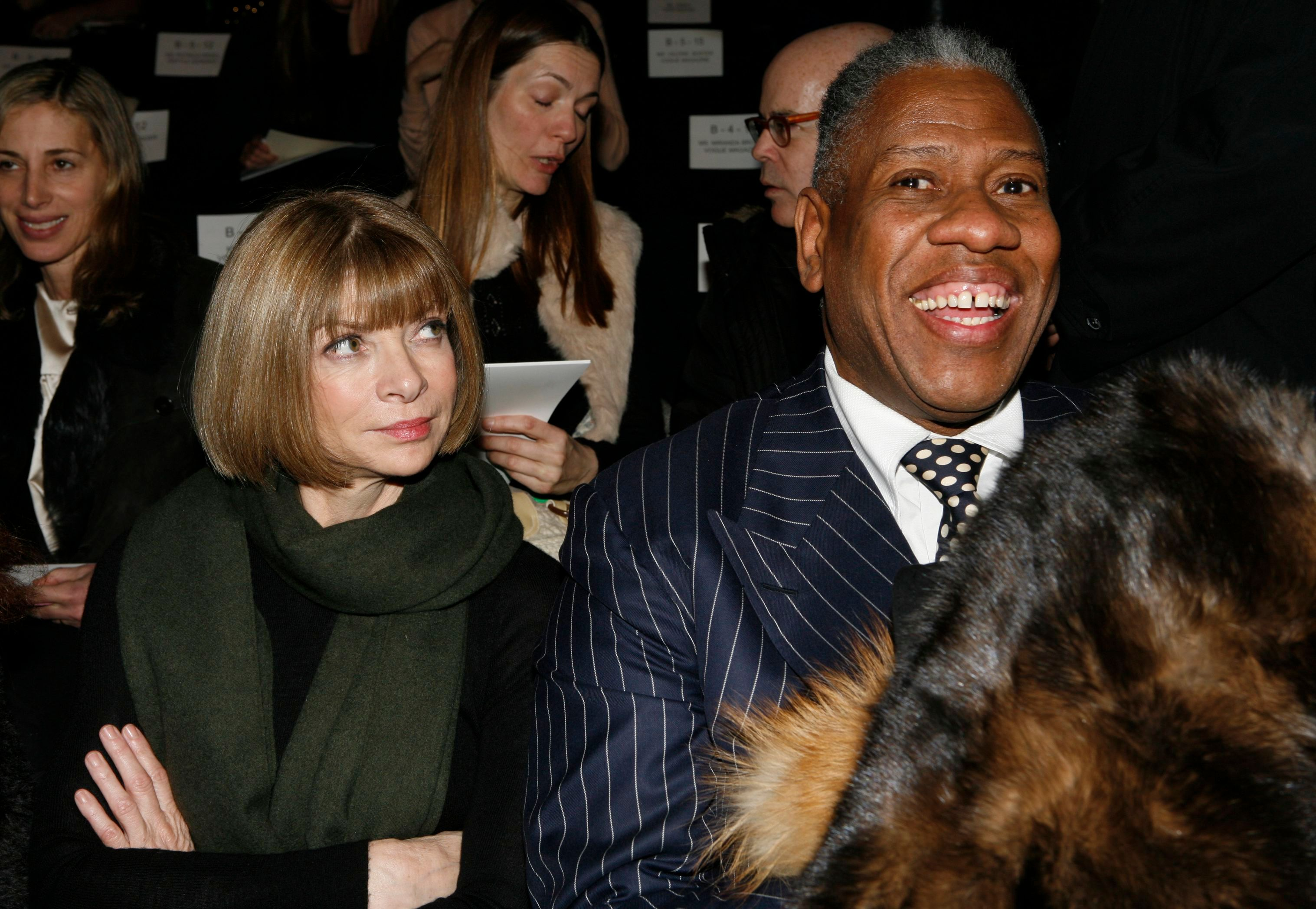 Anna Wintour, Andre Leon Talley Vogue editor-in-chief Anna Wintour and Vogue editor-at-large Andre Leon Talley, right, attend the showing of the Oscar de la Renta fall 2007 collection, during Fashion Week in New YorkFASHION OSCAR DE LA RENTA, New York, USA