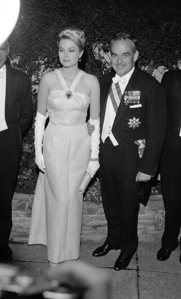 Prince Rainer III, Princess Grace, Grace Kelly Prince Rainier III and Princess Grace of Monaco are on the roof garden of the Gresham Hotel in Dublin, shortly before attending the festival banquet in the hotel. They are paying a state visit to the Republic of IrelandPrince Rainer III and Princess Grace, Dublin, Ireland