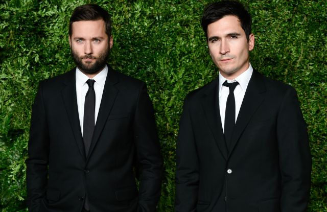 Designers Jack McCollough, left, and Lazaro Hernandez of Proenza Schouler attend the 12th Annual CFDA/Vogue Fashion Fund Awards at Spring Studios, in New York2015 CFDA/Vogue Fashion Fund Awards, New York, USA