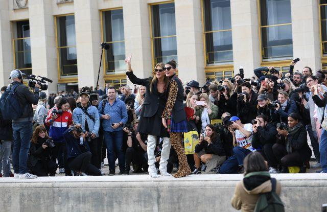 Anna Dello Russo and Giovanna BattagliaStreet Style, Spring Summer 2018, Paris Fashion Week, France - 02 Oct 2017