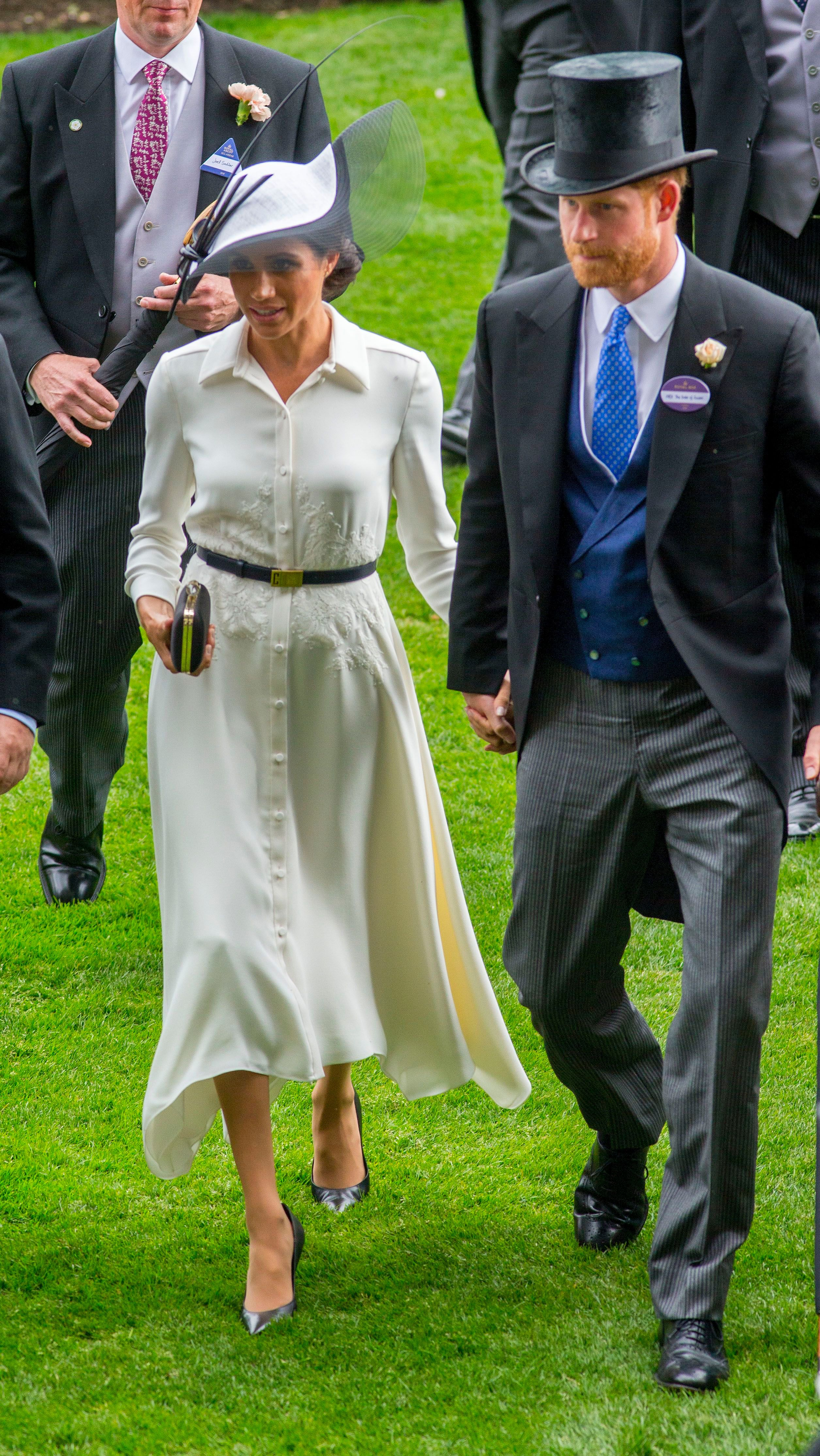 Meghan Duchess of Sussex and Prince HarryRoyal Ascot, Day One, UK - 19 Jun 2018WEARING GIVENCHY HAT BY PHILIP TREACY