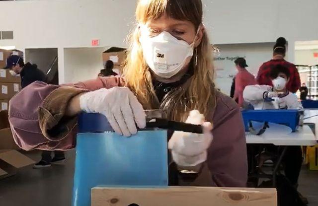 Video: Coronavirus Face Shields — See