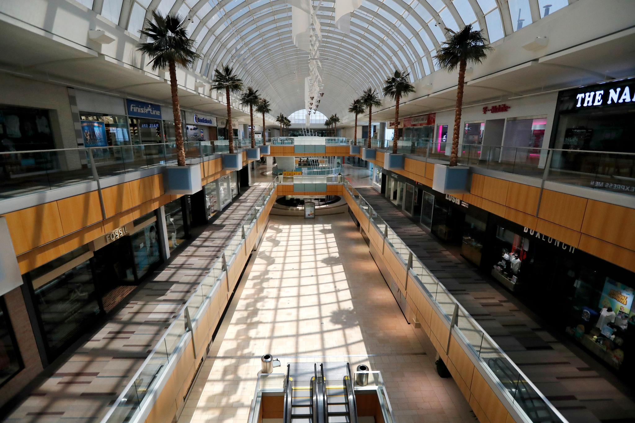 The Galleria sits void of customers in the middle of the day in Dallas, Texas.