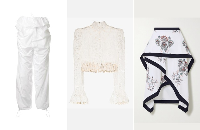 Pieces from Y/Project, Zimmermann, and JW Anderson.