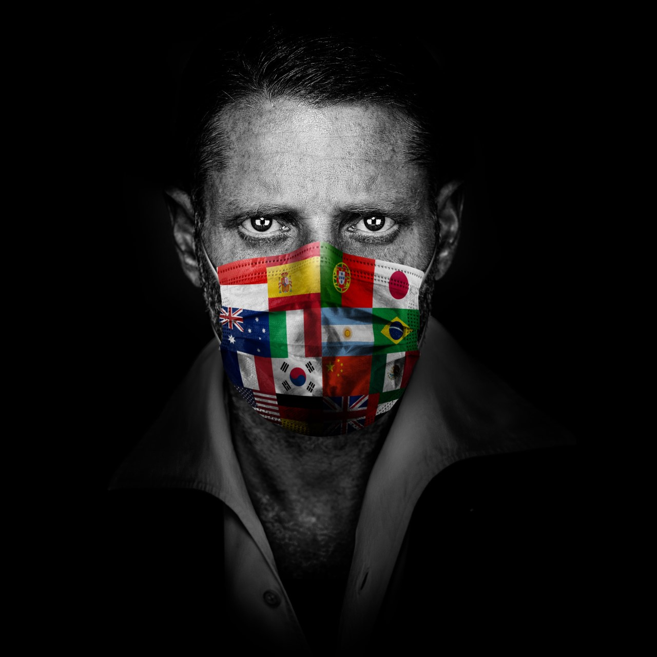 "Lapo Elkann in the ""Never Give Up"" charity campaign"