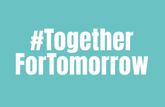 The #TogetherForTomorrow initiative aims to support Italian young designers.