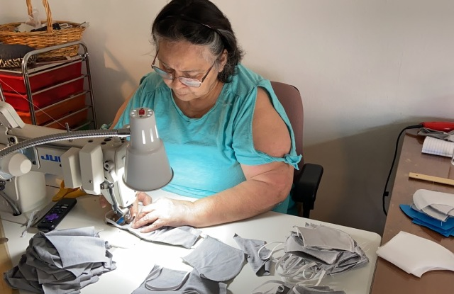 Local Miami seamstress sews masks for Upcycle Project