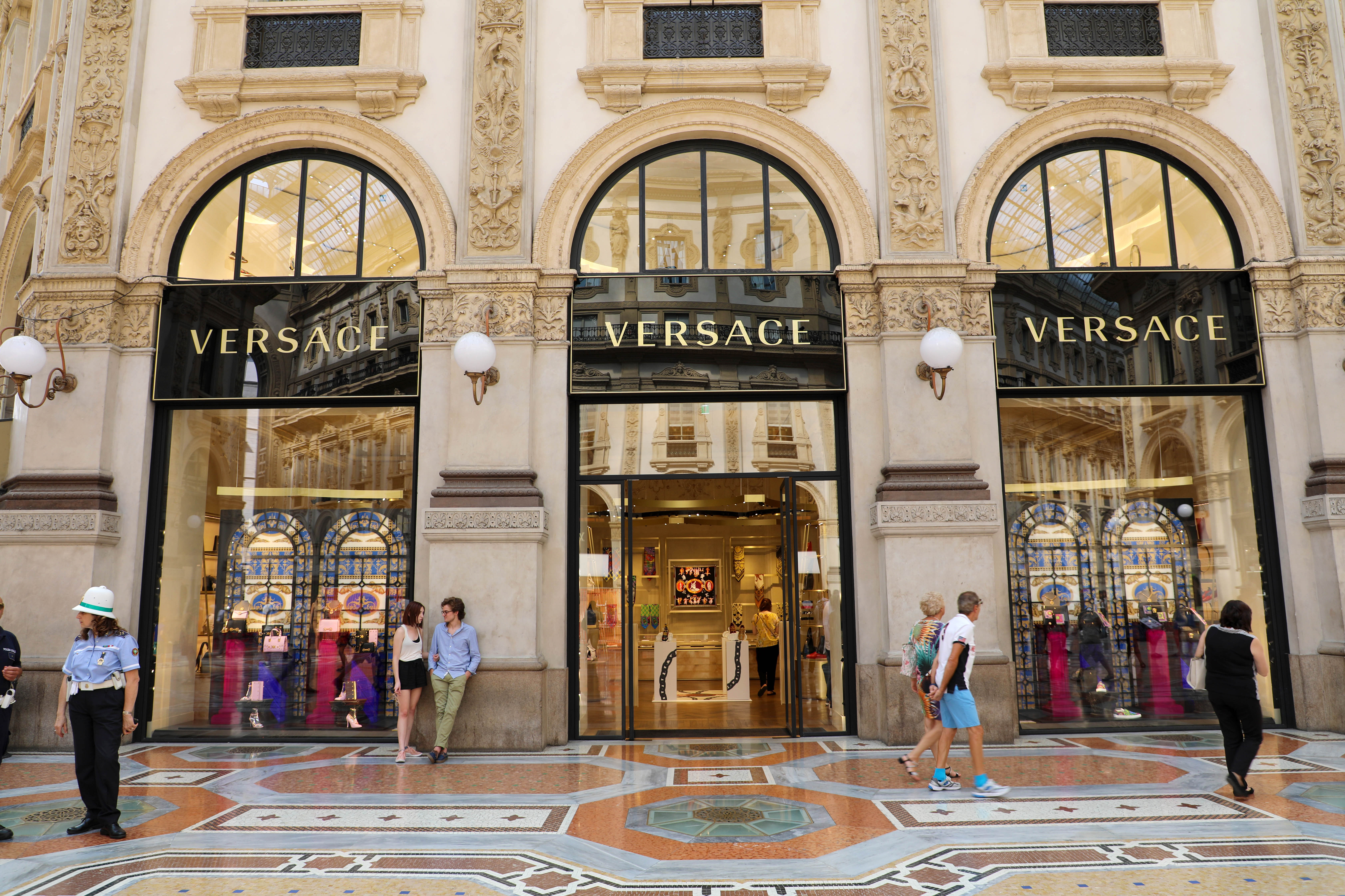 Versace store Milan Italy