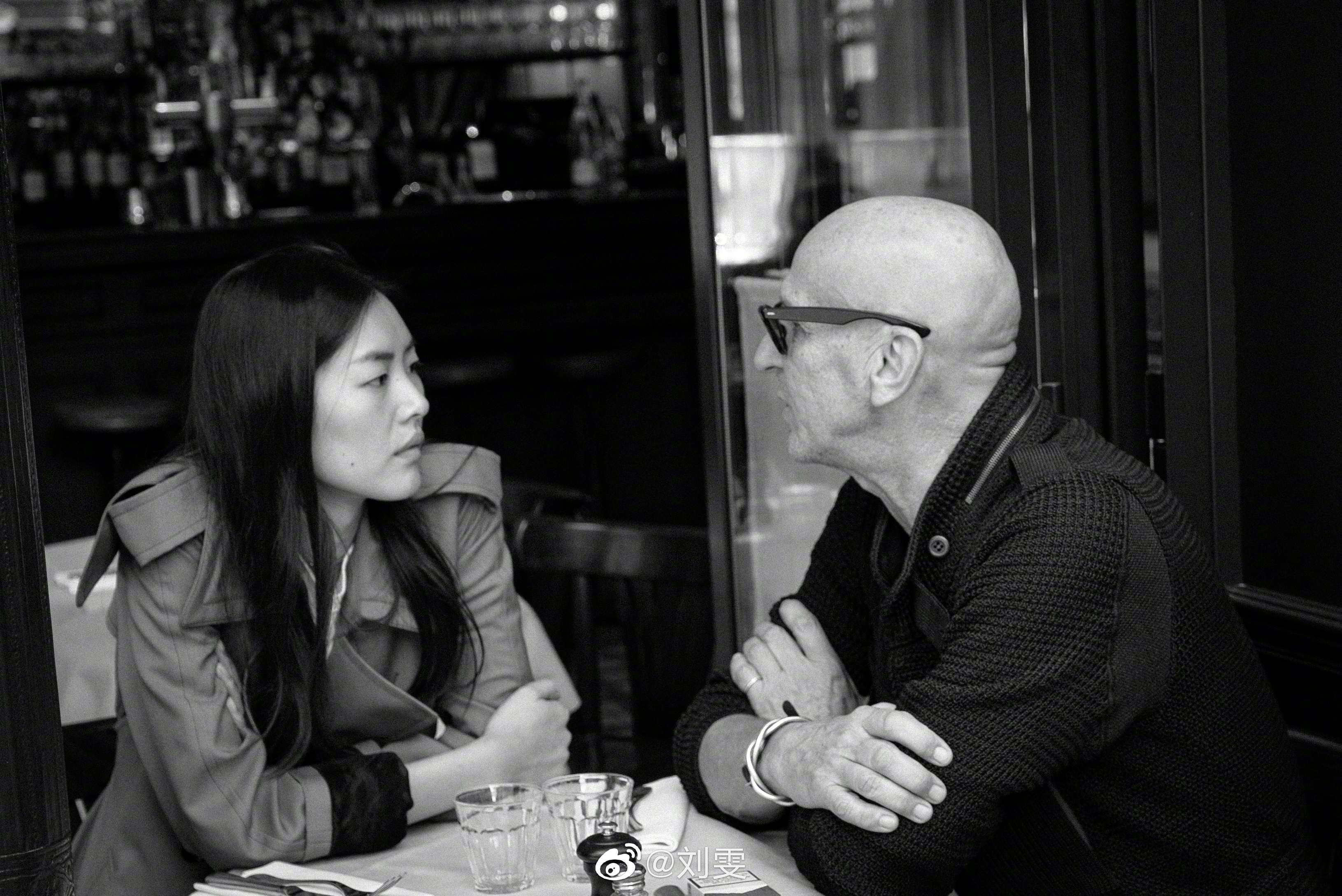 Liu Wen and her mentor Joseph Carle, who discovered her when she was a fitting model at Marie Claire China.