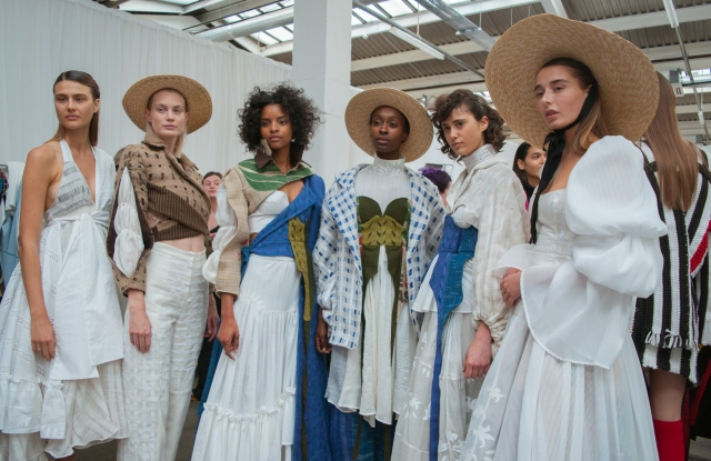 Edinburgh College of Art students present their collections at the Graduate Fashion Week catwalk show 2019