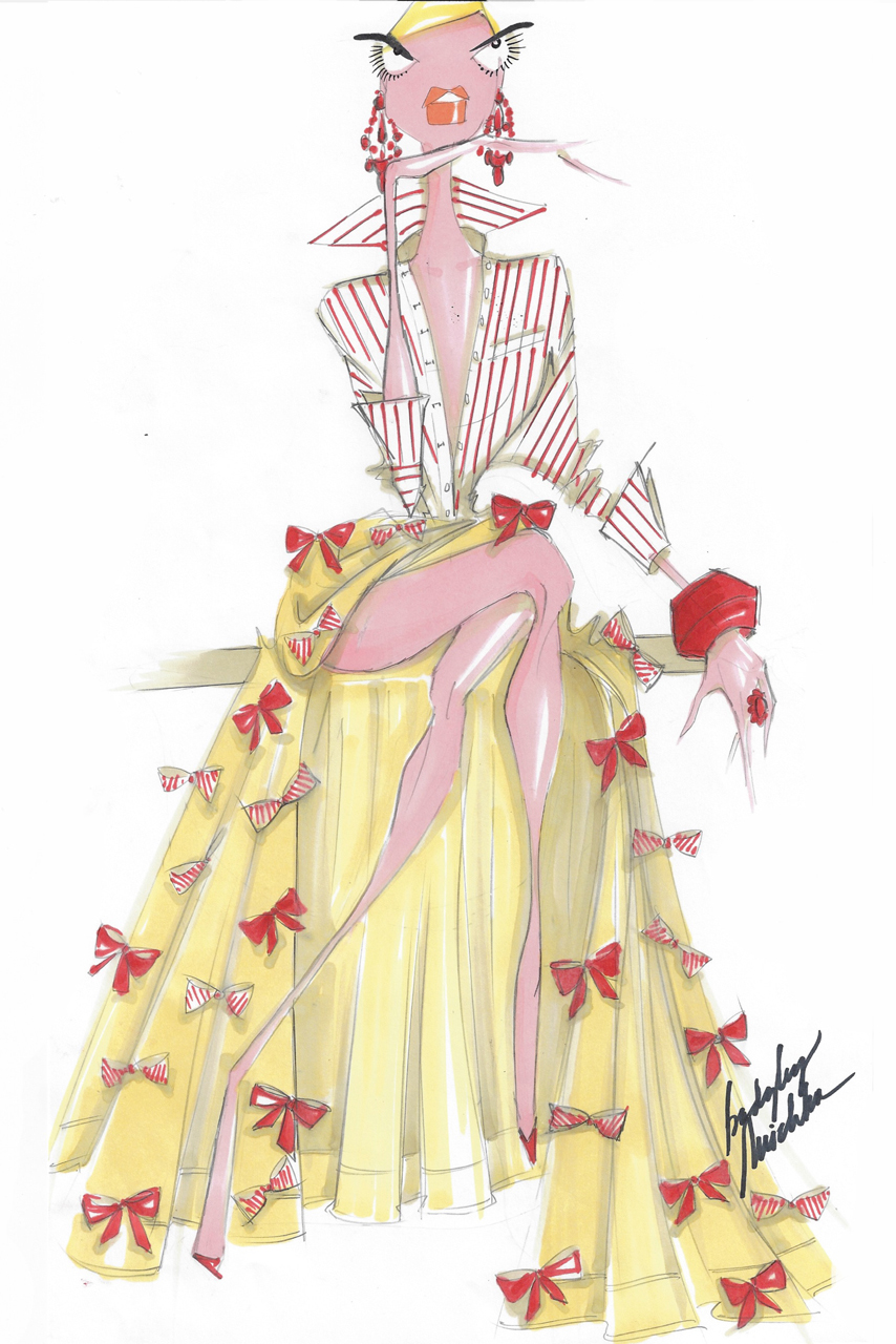 A sketch from Badgley Mischka up for auction.