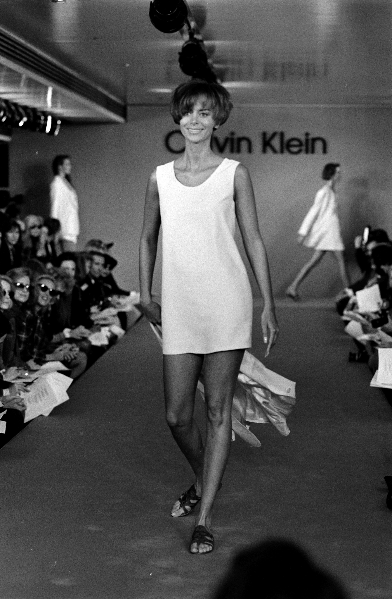 Calvin Klein's short and long tank dresses. Spring 1991.