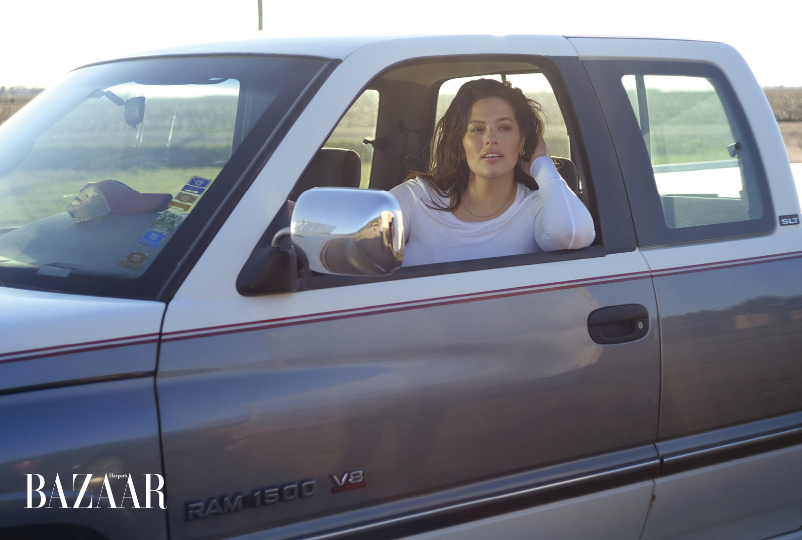 Ashley Graham in her grandfather's truck.