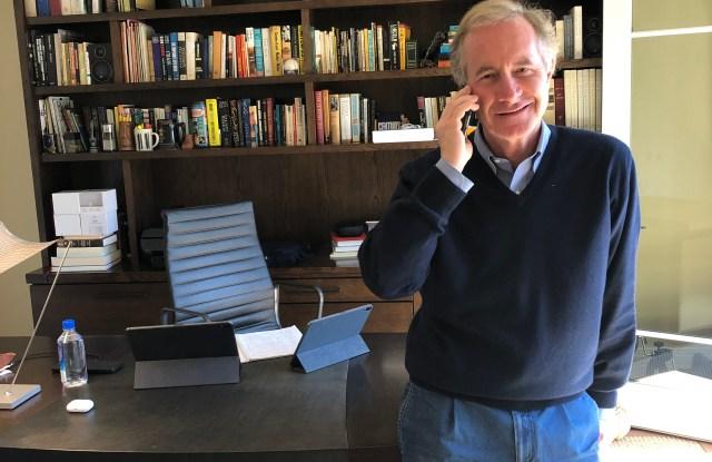 Fabrizio Freda in his home office