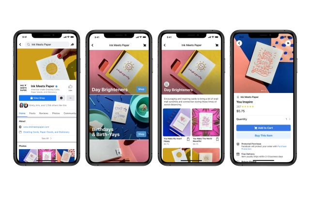 Facebook introduces Facebook Shops, the tech giant's vision of social-driven retail storefronts.