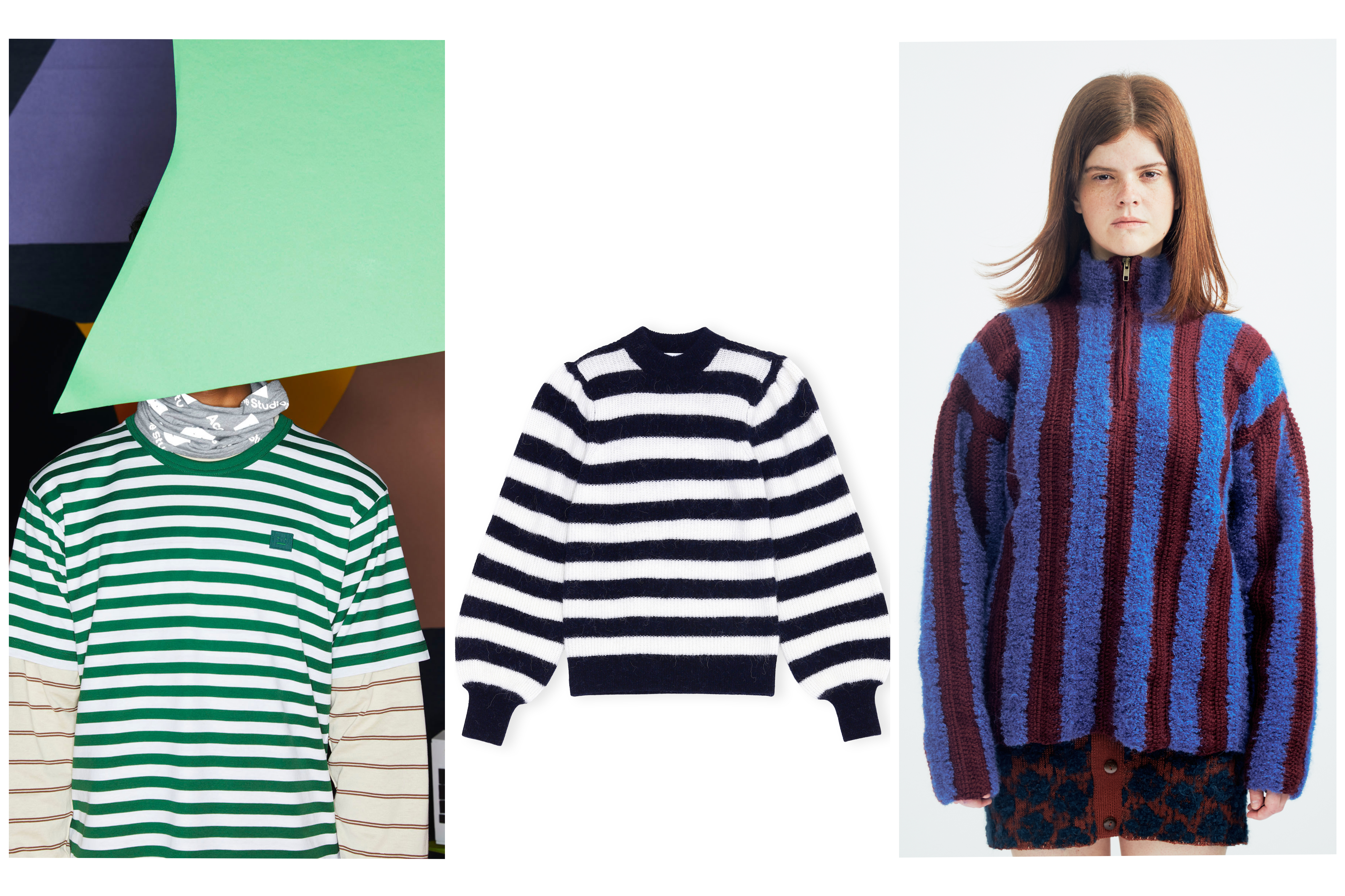 Stripes Emerge As a Fall 8 Fashion Trend From Virtual Press