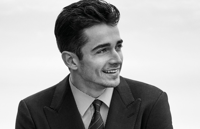 Charles Leclerc fronts the Giorgio Armani Made to Measure spring 2020 ad campaign.
