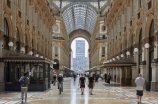 Milan's Galleria Vittorio Emanuele on May 18, 2020