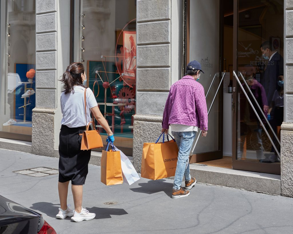 Asian consumers returned to shop in Milan