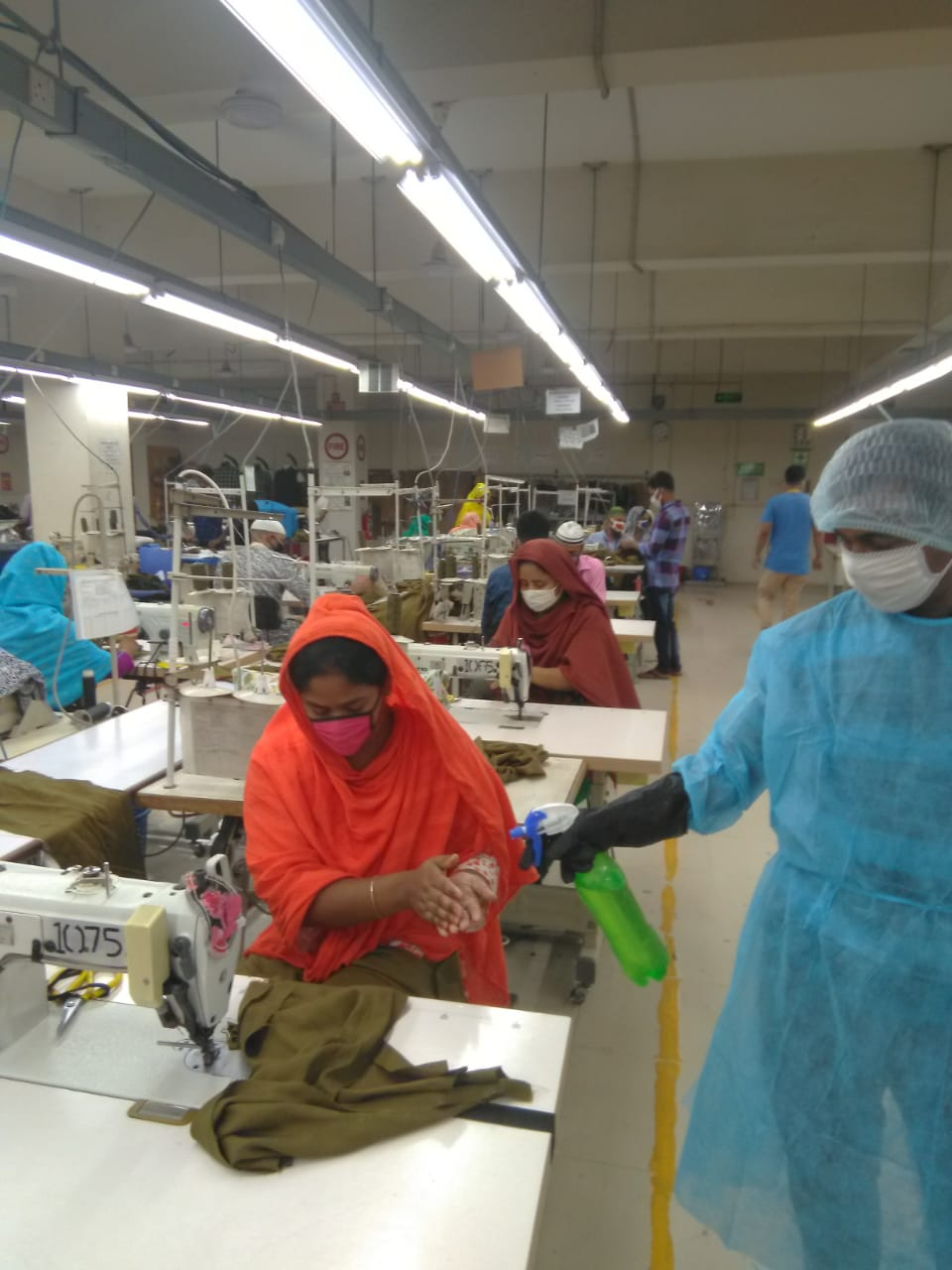 Workers at the Sparrow factory in Bangladesh