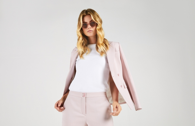 A lookbook look from Australian custom tailoring company InStitchu's new women's offer.