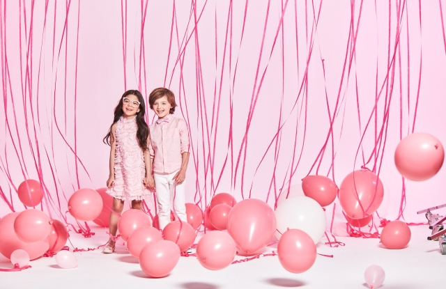 A campaign image from Janie and Jack's Think Pink Collection.
