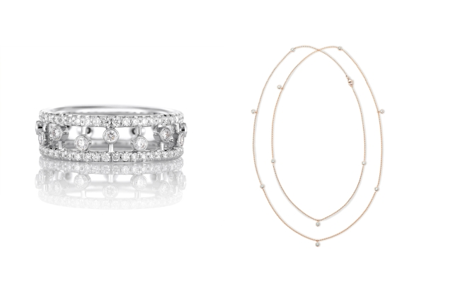 Pieces by De Beers Jewellers that have been selling during lockdown.