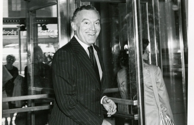 Leonard A. Lauder in 1978 at Lord & Taylor for the launch of Cinnabar fragrance.