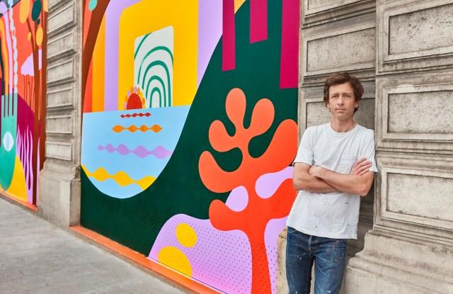 Lucky Left Hand mural for Louis Vuitton.