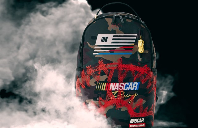 NASCAR and Sprayground's collaboration backpack