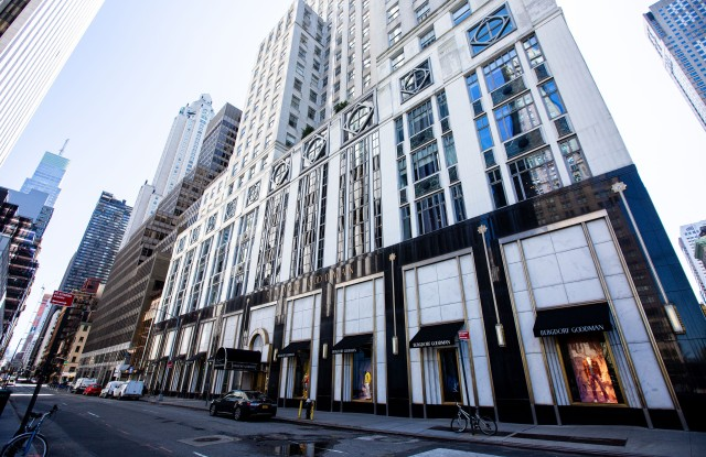 Bergdorf Goodman's luxury department store on Fifth Avenue in Midtown Manhattan.