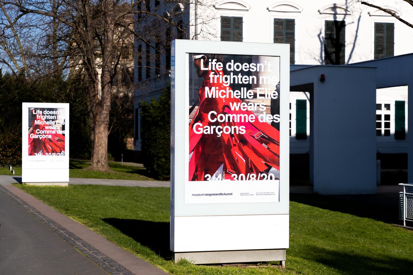 """Life Doesn't Frighten Me: Michelle Elie Wears Comme des Garçons"" exhibition in Frankfurt"