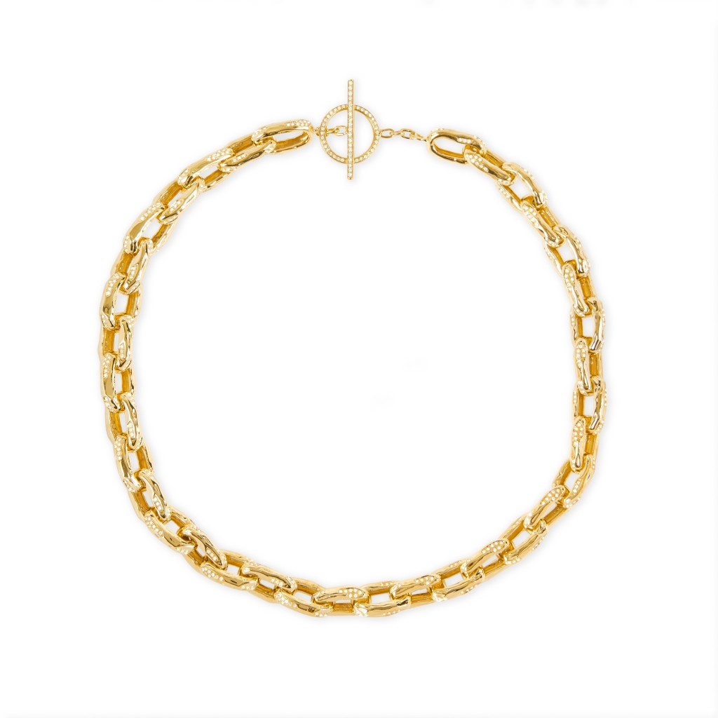 Patcharavipa's gold and diamond chain 'Row' necklace