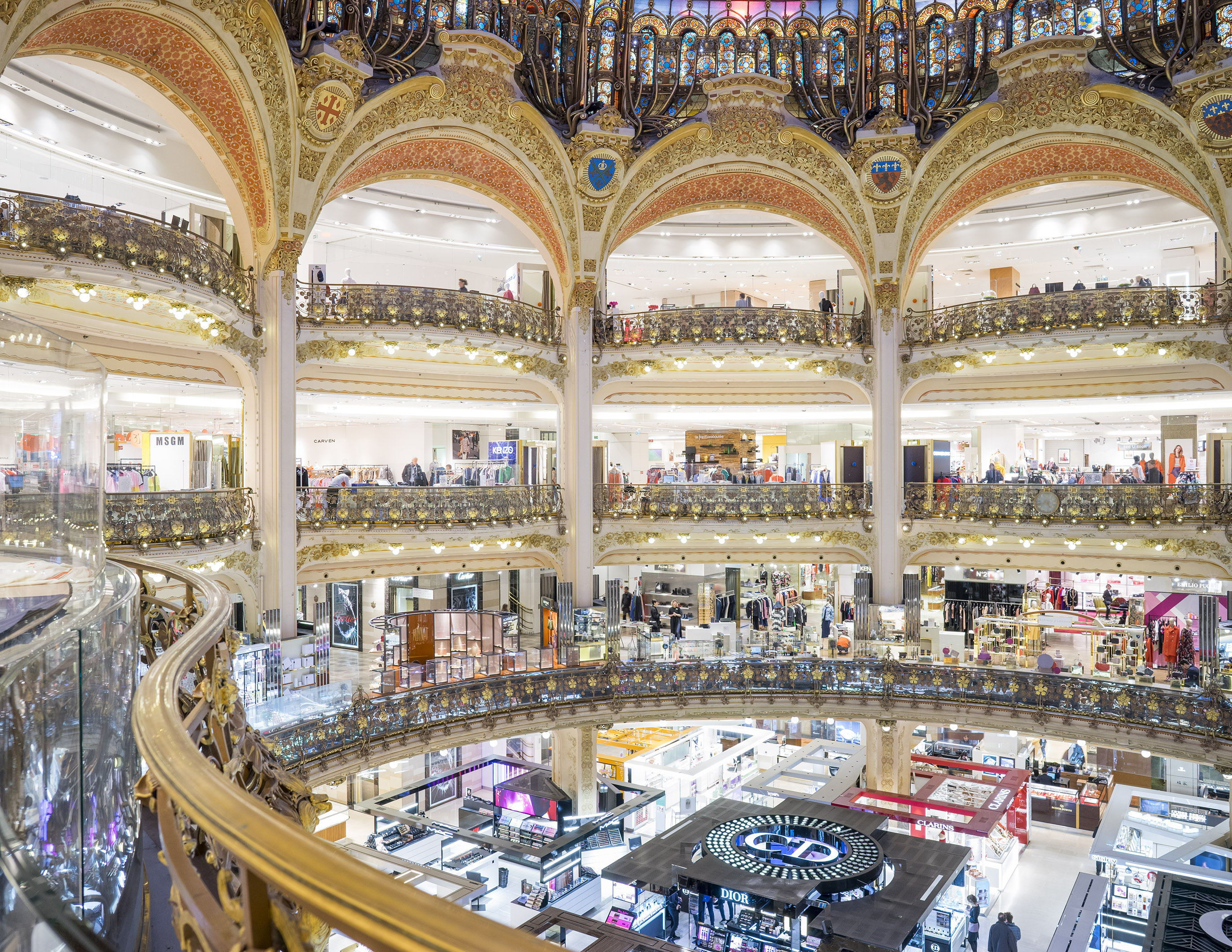 Coupole of the Galeries Lafayette Haussmann flagship