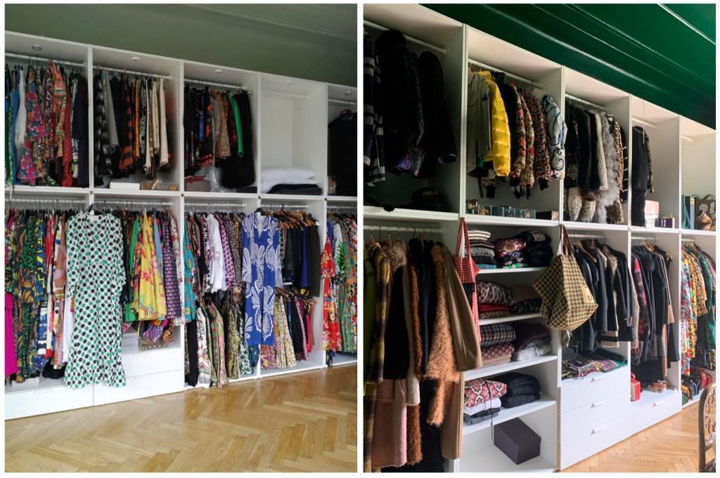 J.J. Martin's closet.