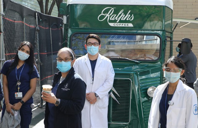 Ralphs Coffee Truck is traveling to New York City  hospitals.