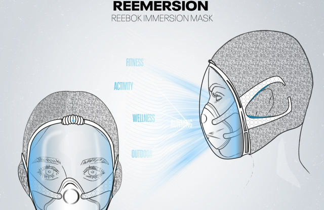 One of the possible fitness masks created by Reebok.