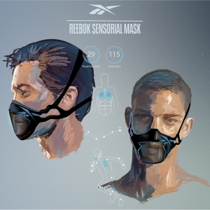 Another conceptual Reebok fitness face mask.