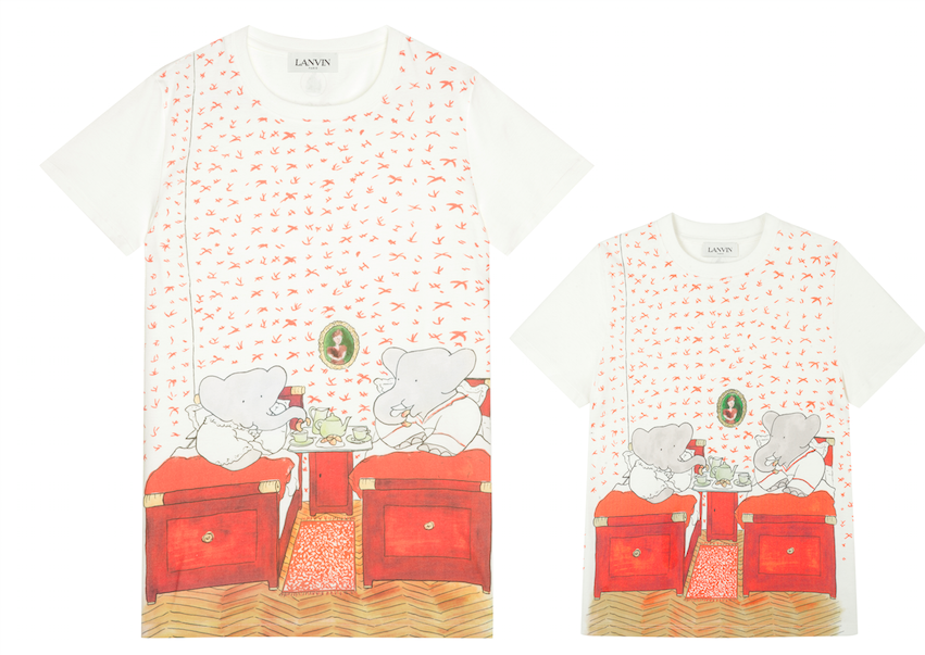 "Shirts that were part of the Lanvin Babar ""Love in Action"" capsule."