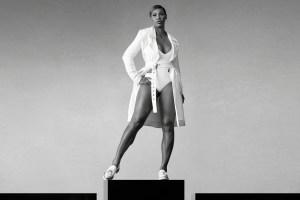 Serena Williams poses for Stuart Weitzman.