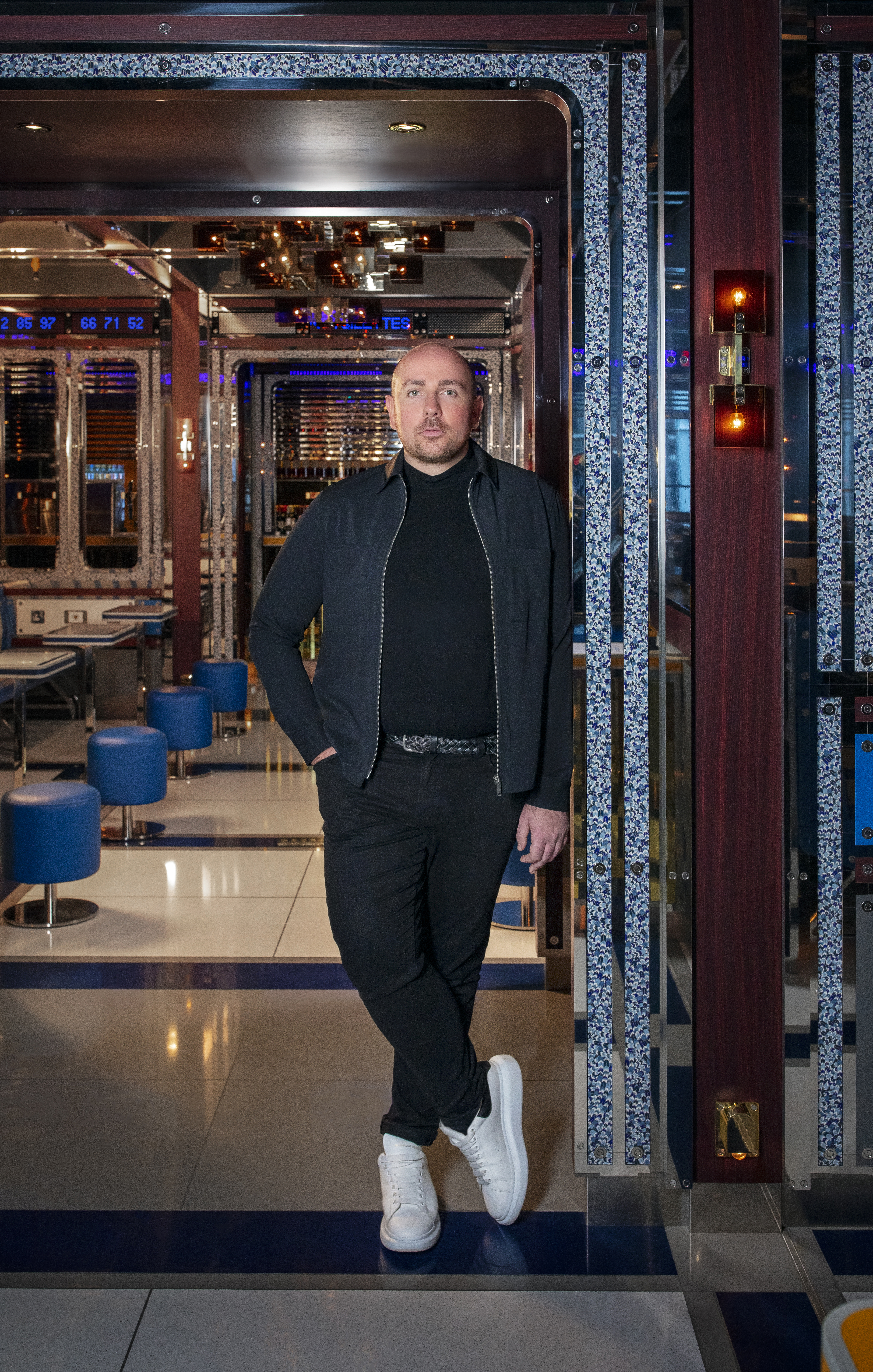 Shayne Brady pictured at Bob Bob Cité in London, which he designed last year.